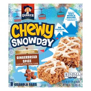 Quaker Chewy Snowday Gingerbread Spice Granola Bars