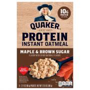 Quaker Instant Oatmeal Protein Maple Brown Sugar