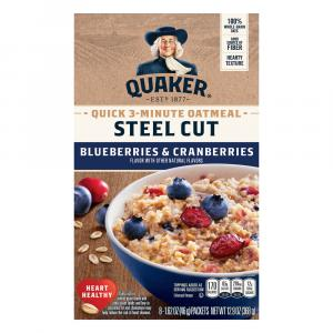 Quaker Steel Cut 3 Minute Oatmeal-blueberries & Cranberries