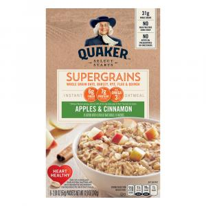 Quaker Super Grains Apples And Cinnamon Instant Hot Cereal