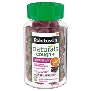 Robitussin Naturals Honey Elderberry Cough Immune Gummy