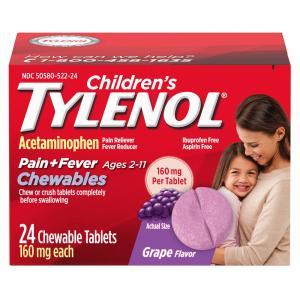 Children's Tylenol Pain + Fever Grape Chewable Tablets