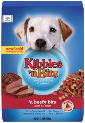 Kibbles 'n Bits Beefy Bits Dry Dog Food
