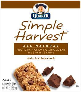 Quaker Simple Harvest Dark Chocolate Granola Bars