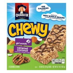Quaker Chewy Granola Bars Girls Scouts Caramel Coconut