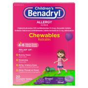 Benadryl Children's Grape Chewable Tablets