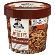 Quaker Real Medleys Maple Pecan Raisin Flavor Oatmeal
