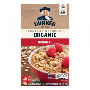 Quaker Organic Instant Oatmeal Regular