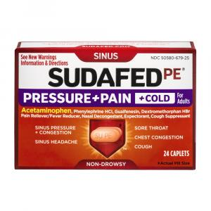 Sudafed Pressure/Pain/Cold