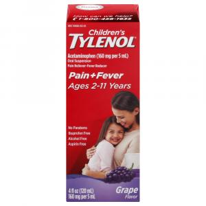 Children's Tylenol Grape Splash Flavor Liquid