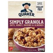 Quaker Simply Granola Oats, Honey, Raisins & Almonds Cereal