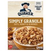 Quaker Simply Granola Oats, Honey & Almonds Cereal
