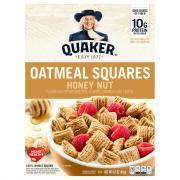 Quaker Oatmeal Squares Honey Nut Cereal