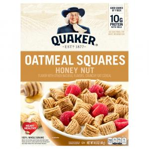 Quaker Oatmeal Squares Honey Nut Cereal
