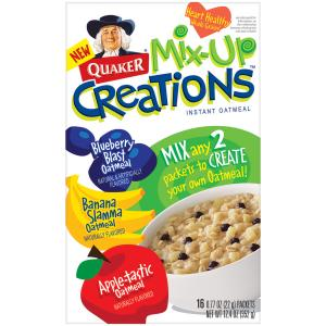 Quaker Mix Up Creations Apple, Blueberry, Banana Oatmeal