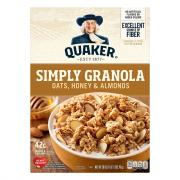 Quaker Simply Granola Oats, Honey & Almonds Cereal