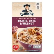 Quaker Raisin, Walnut & Date Instant Oatmeal