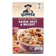 Quaker Raisin, Walnut & Date Instant Oatmeal