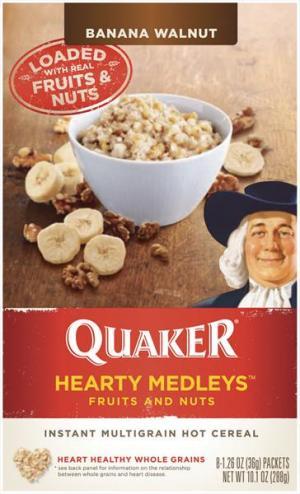 Quaker Banana Walnut Hearty Medleys Cereal