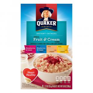 Quaker Fruit & Cream Variety Pack Instant Oatmeal