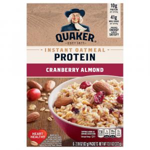 Quaker Instant Oatmeal Protein Cranberry Almond