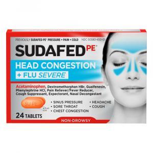 Sudafed PE Head Congestion + Flu Severe