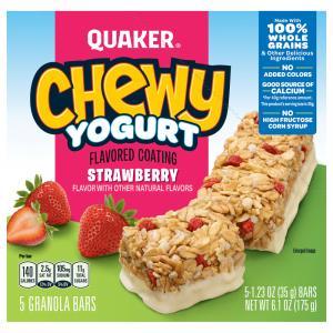 Quaker Chewy Yogurt Strawberry Bars