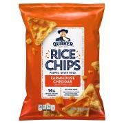 Quaker Rice Chips Cheddar