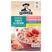 Quaker Instant Oatmeal Fruit & Cream Variety