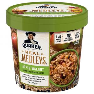Quaker Real Medleys Apple Walnut Oatmeal