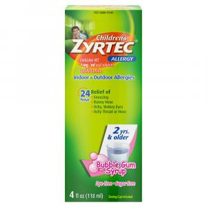 Children's Zyrtec Allergy Bubble Gum Syrup