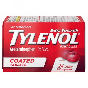 Tylenol Extra Strength 500mg Coated Tablets