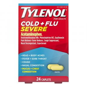 Tylenol Cold & Flu Severe for Adults Caplets