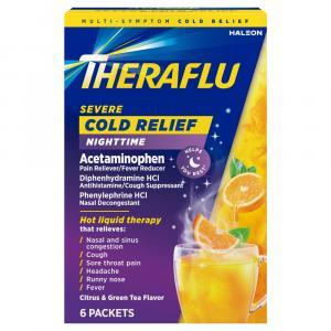 Theraflu Multi-Symptom Severe Cold Green Tea & Citrus Flavor