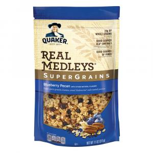 Quaker Real Medleys Supergrains Blueberry Pecan Granola