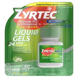 Zyrtec Allergy Liquid Gels
