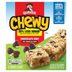 Quaker Chewy Low Sugar Chocolate Chip Granola Bars