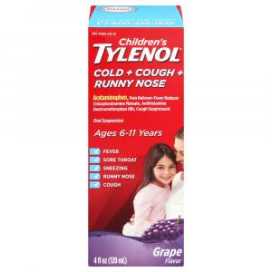 Children's Tylenol Cold, Cough, Runny Nose Age 6-11