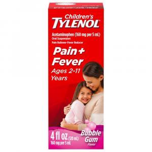 Childrens Tylenol Pain + Fever Bubblegum flavor