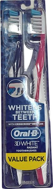 Oral-B 3D White Radiant Soft Toothbrushes