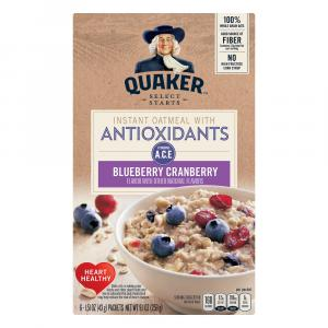 Quaker Antioxidants Blueberry Cranberry Instant Oatmeal