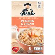 Quaker Instant Oatmeal Peaches & Cream