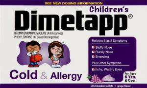 Dimetapp Cold & Allergy Chewable Tablets