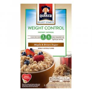 Quaker Weight Control Maple & Brown Sugar Oatmeal
