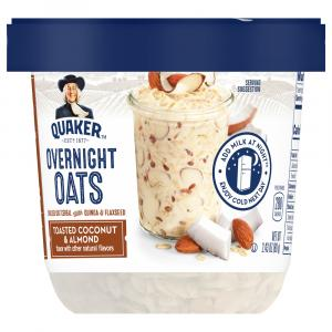Quaker Overnight Oats Toasted Coconut and Almond Crunch