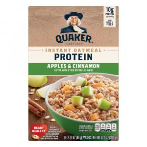 Quaker Instant Oatmeal Protein Maple Apple Cinnamon