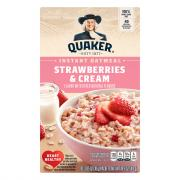 Quaker Instant Oatmeal Strawberries & Cream