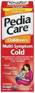 Pediacare Cold Multi-symptom Grape