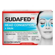 Sudafed PE Head Congestion & Pain