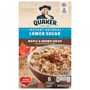 Quaker Lower Sugar Maple & Brown Sugar Instant Oatmeal